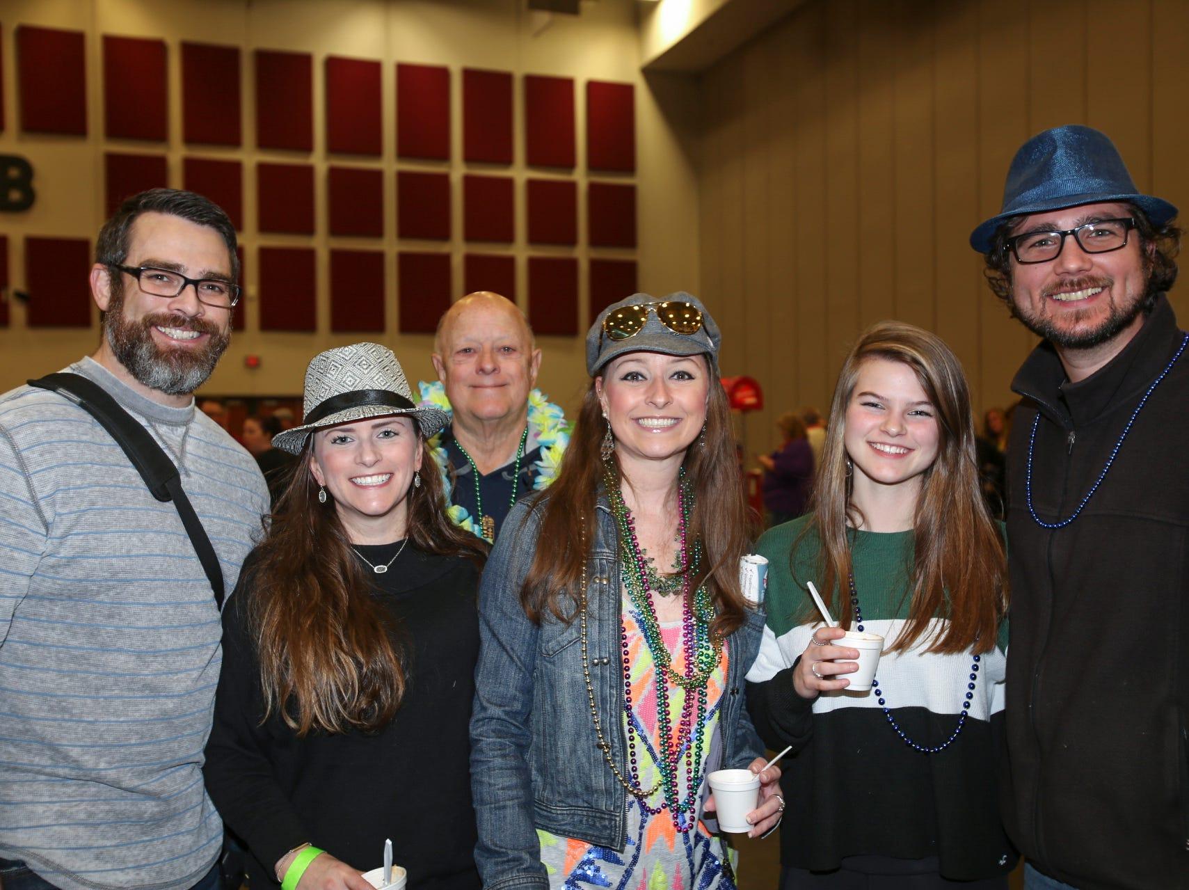 Chris, Natalie, and Bella Miller, David Staudt, Nicole Rogers, and Stephen Perkins