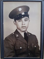 Daniel S. Fernandez is shown in photos from his service during World War II. He was around 23 years old.