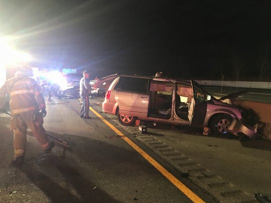A woman was ticketed for speeding after a crash that sent her, two children and a 30-year-old woman from North Carolina to the hospital.