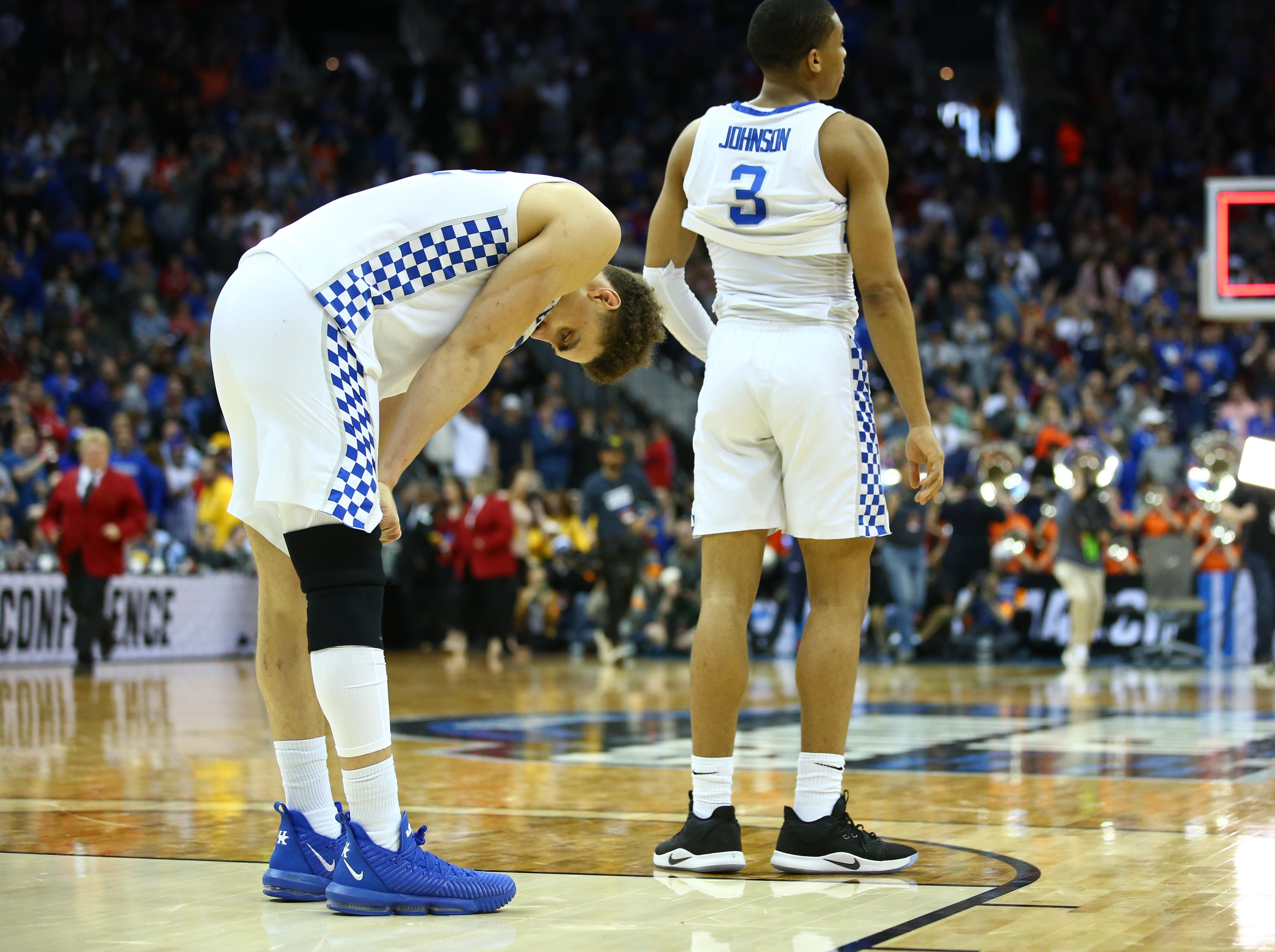 Elite Eight: No. 2 Kentucky loses to No. 5 Auburn, 77-71 in overtime.