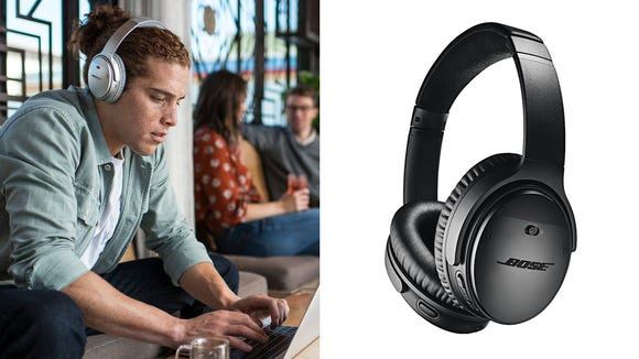 Whether working or watching movies, noise-canceling headphones are a must in the go.