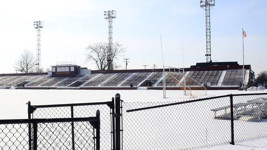 The Keyworth Stadium in Hamtramck, Mich., is home to the Detroit City semi-pro soccer team, here on Feb. 2, 2019.