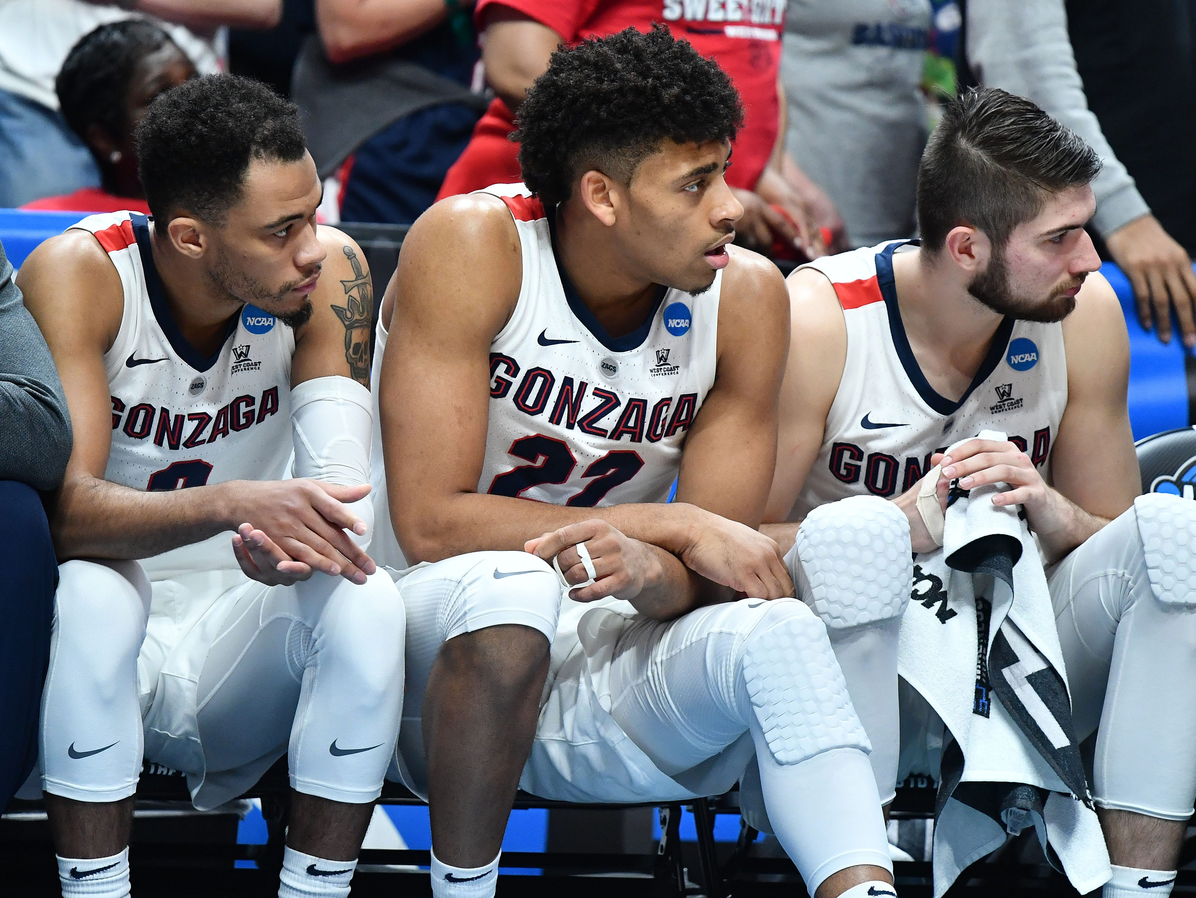 Elite Eight: No. 1 Gonzaga loses to No. 3 Texas Tech, 75-69.