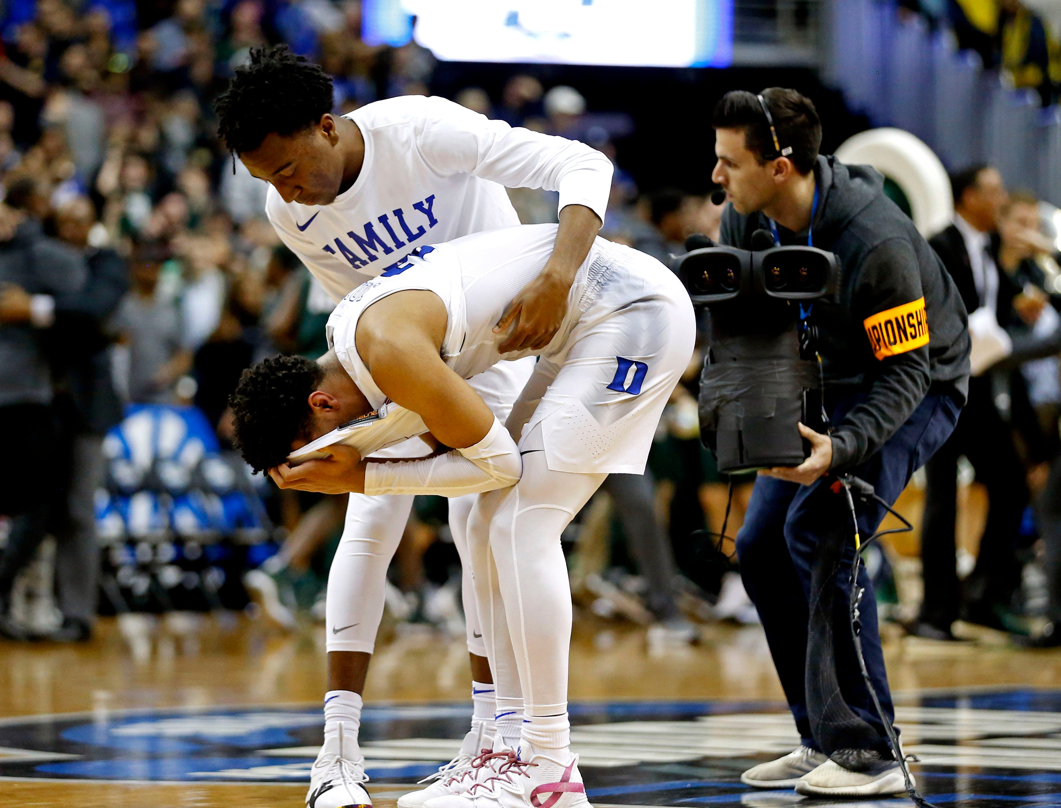 Elite Eight: No. 1 Duke loses to No. 2 Michigan State, 68-67.