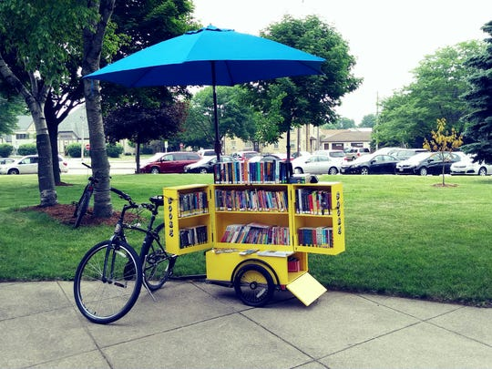 The Menasha Public Library's Book Bike has been in use for the past two years.