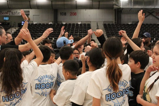 The Wisconsin Herd hosted the Menominee Hoops clinic at the Menominee Nation Arena  during the Herd's inaugural season.