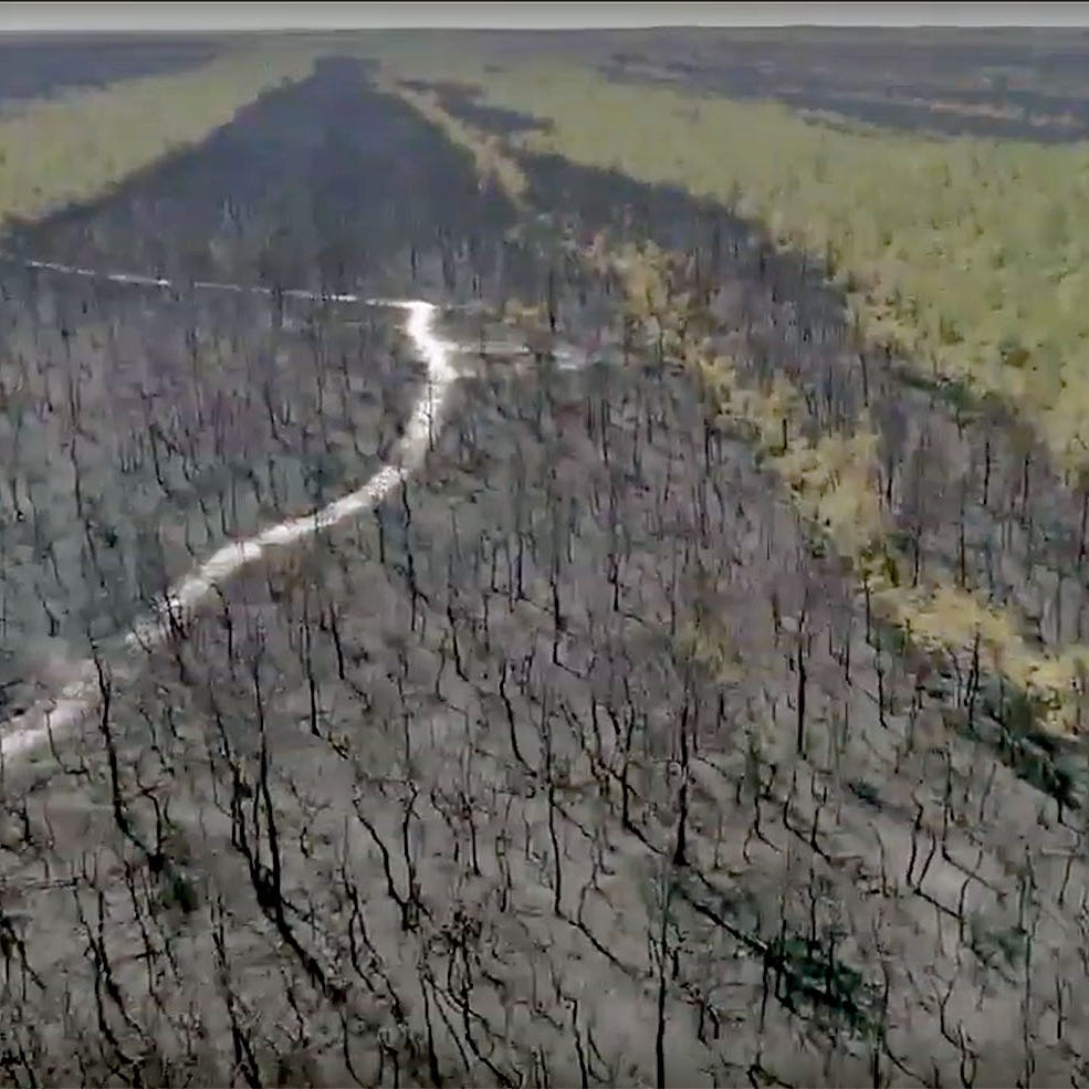 NJ forest fire: APP drone flies over Penn State fire