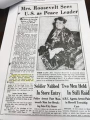 Asbury Park Press coverage of Eleanor Roosevelt's visit to Asbury Park as a guest of the Rotary Club in the spring of 1940.