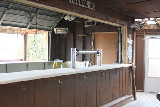 An tiki bar with indoor and outdoor access at The Pour House Pub and Grill is currently being renovated and will be open once the weather warms up.