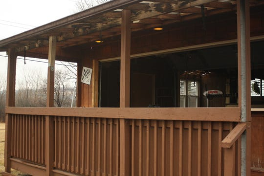 An outdoor tiki bar at The Pour House Pub and Grill is currently being renovated and will be open once the weather warms up.