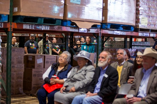 A crowd attended the ribbon cutting for the donation by Citgo of a new refrigerated truck to the Coastal Bend Food Bank on Monday, April 1, 2019. The truck will provide for an expansion of the food bank's mobile food pantry services and is specifically for areas impacted by Hurricane Harvey.