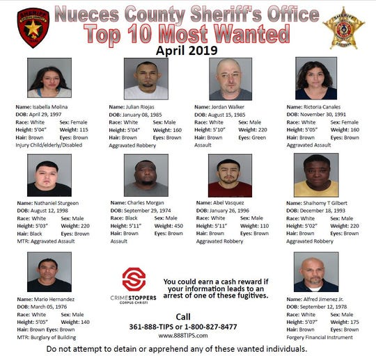 Anyone with information about these wanted people should call Crime Stoppers at 361-888-8477.