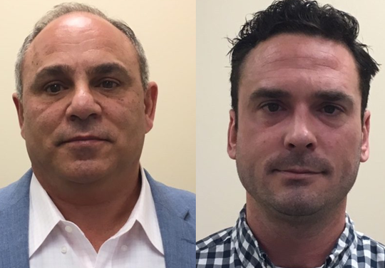 Michael Sarubbi, left, and Michael Armstrong, both of Cherry Hill