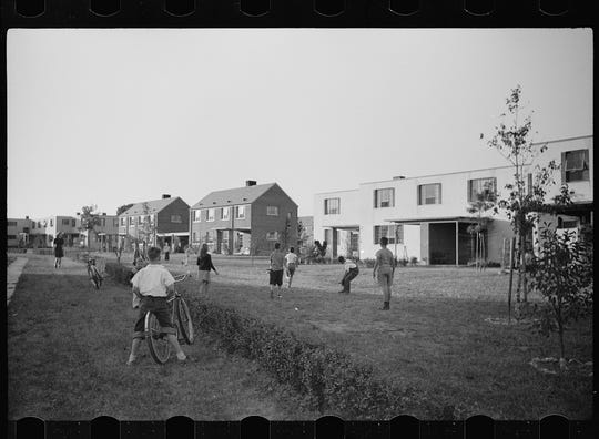 """Greenhills, Ohio, pictured in 1939, was a """"greenbelt"""" community developed by the federal government's New Deal."""