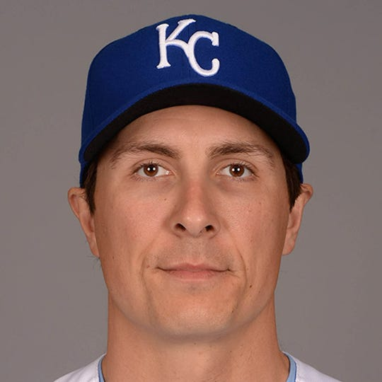 Kansas City Royals pitcher Homer Bailey poses for a photo during media day at Surprise Stadium.