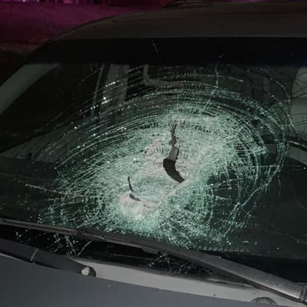 Man seriously injured after large rock thrown into car's windshield in Burlington Kentucky