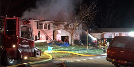 Heavy fire at a home on Waycross Road in Forest Park Monday morning.
