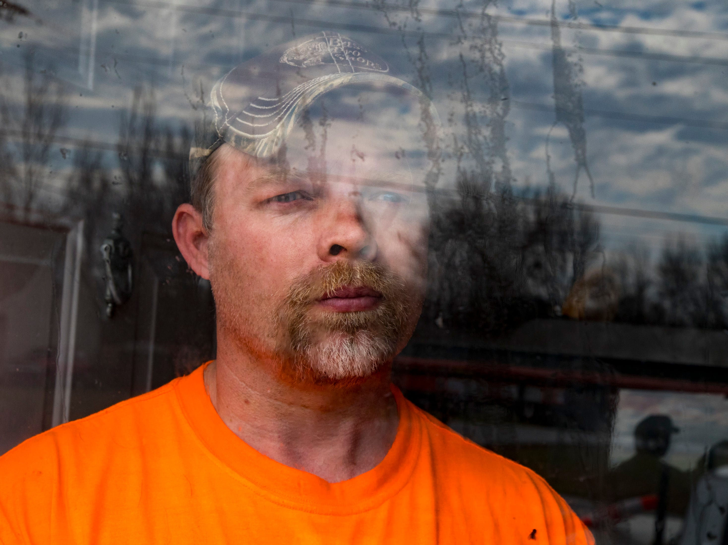 Michael Chase poses for a portrait at his home in Montgomery County on Thursday, March 14, 2019. Chase lost his daughter, Ariel Hope Chase, to suicide on March 4, 2019.
