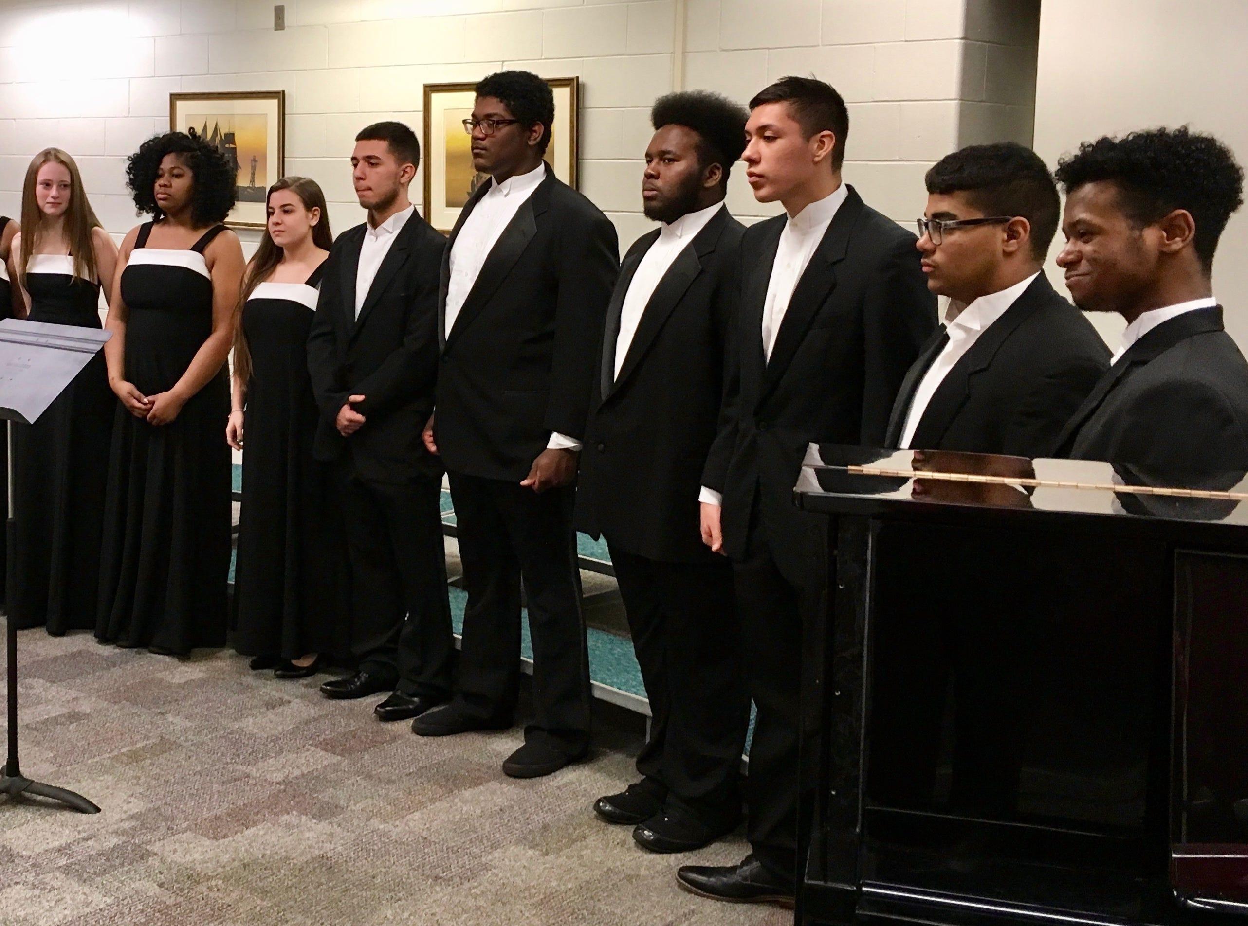 The Linden High School madrigals