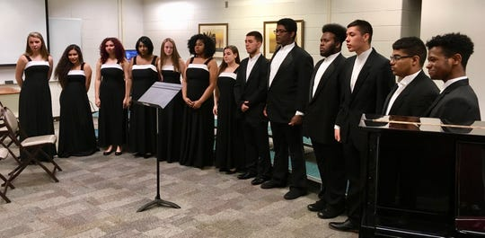 The Linden High School madrigals