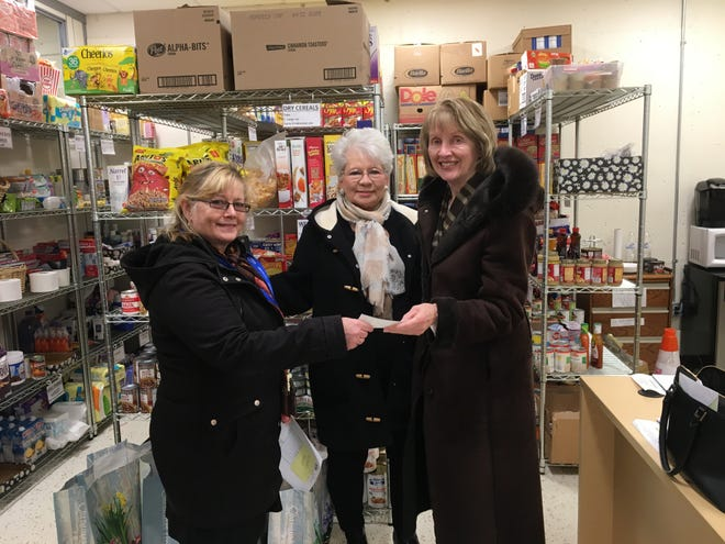 (Left to right) Maryann Balut, with members of the Bridgewater Woman's Club Helen Horun and Kathleen Jepsen.