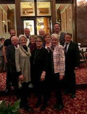 Friends and family of U.S. Congressman Leonard Boswell attend the Legislative Memorial Service in the Iowa Senate.
