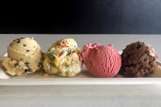 A Dream Flights includes samplings of ice cream, cake and cookie dough.