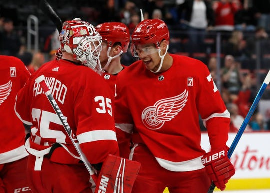 The Red Wings have won seven of their last eight games, including Sunday's 6-3 win over the Boston Bruins.