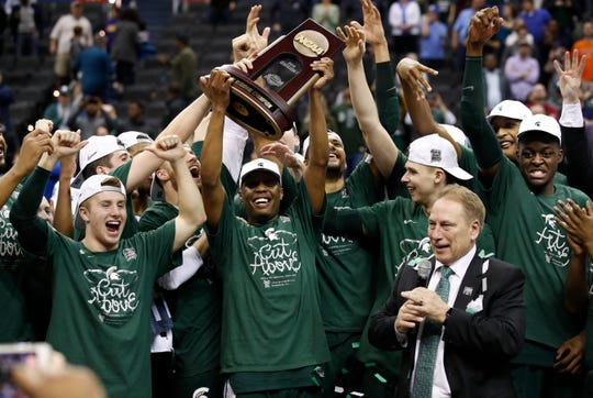 The Michigan State Spartans may be headed to college basketball's Final Four after their Sunday victory over Duke. But it's the University of Michigan that's delivering great news on the economy.