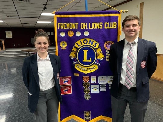 St. Joseph Central Catholic seniors Sarah Molyet and Benton Snyder were honored by the Lions Club.