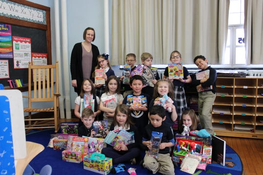 First graders at Immaculate Conception School participated in a February service project.