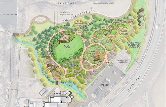A look at what the Gardens on Spring Creek should look like by this fall.