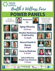 Panels featuring health and wellness are part of Saturday's lineup of the Holistic Chamber of Commerce's Health & Wellness Faire