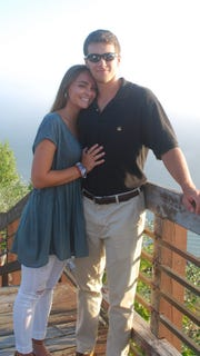 Parker Neff with girlfriend Emma Mathis.