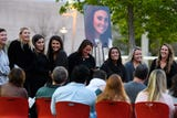 Hundreds of USC students and loved ones honored the life of Samantha Josephson during a candlelight vigil on campus, Sunday, March 31, 2019.