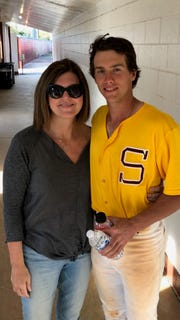 Parker Neff with mom Dixie.