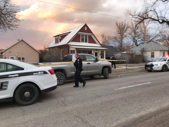 Police investigate on 2nd Avenue South Sunday evening.