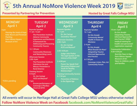 The NoMore Violence events include national speakers, forums and the encore of a city-wide play addressing the youth struggles in the community.