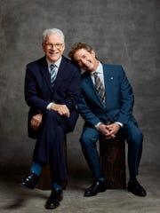 Comedians Steve Martin and Martin Short