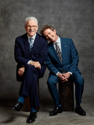 Comedians Steve Martin and Martin Short