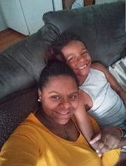 Jessie Roberts is pictured with her son.