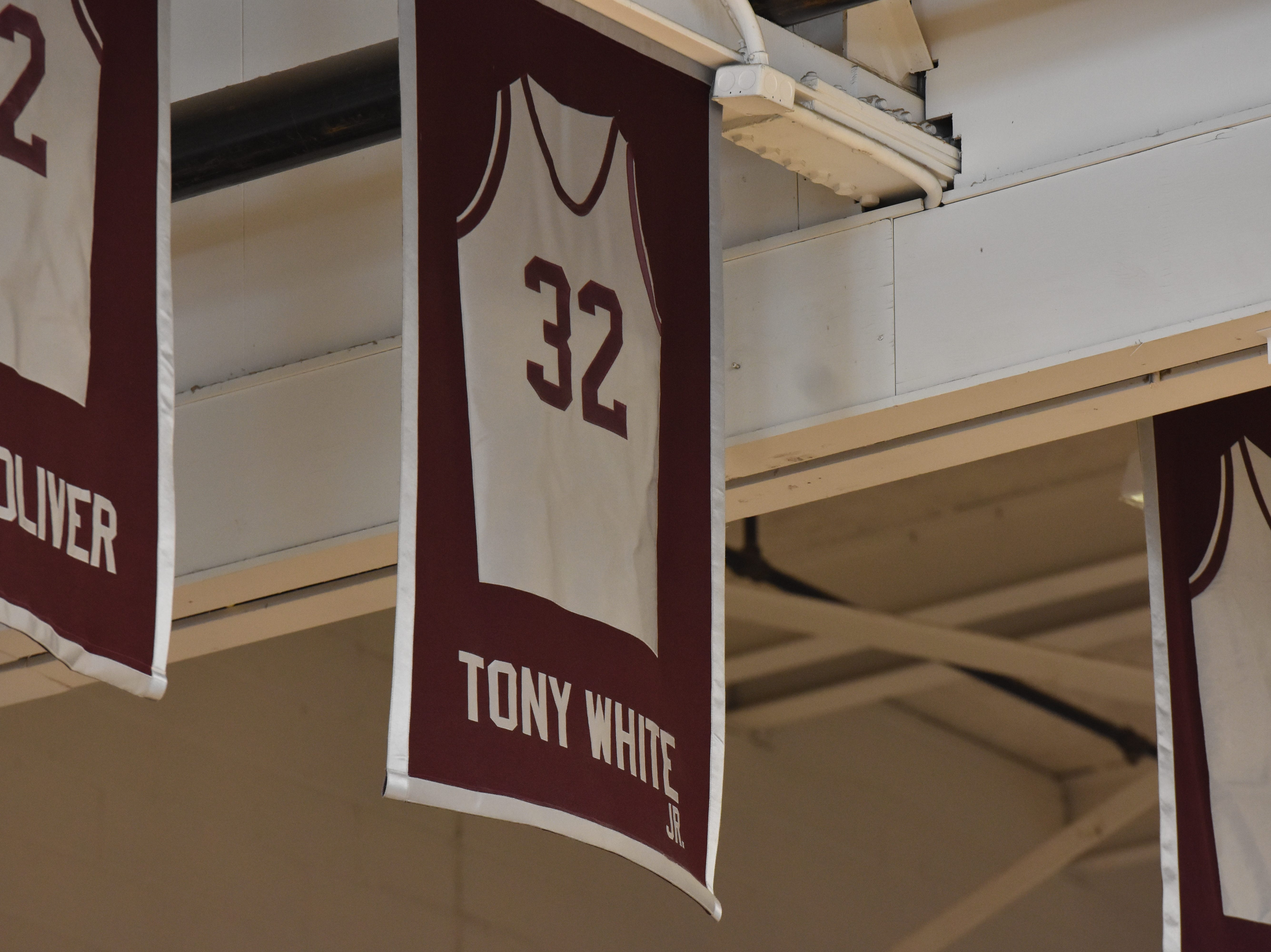 The jerseys of former Bearden High basketball players hang from the rafters of the gym.
