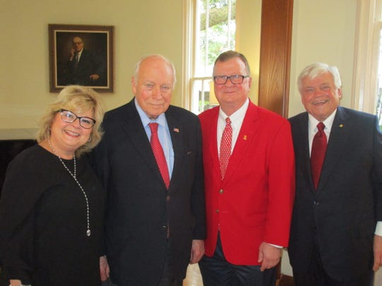 Gail Savoie, Dick Cheney, Joseph Savoie and Richard Zuschlag