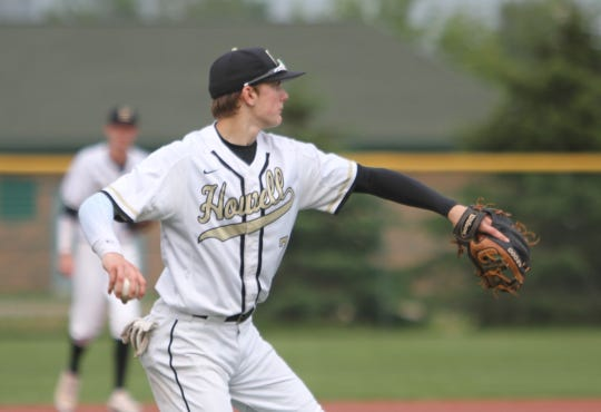 Infielder Evan Mazer is one of four returning starters for Howell's baseball team.