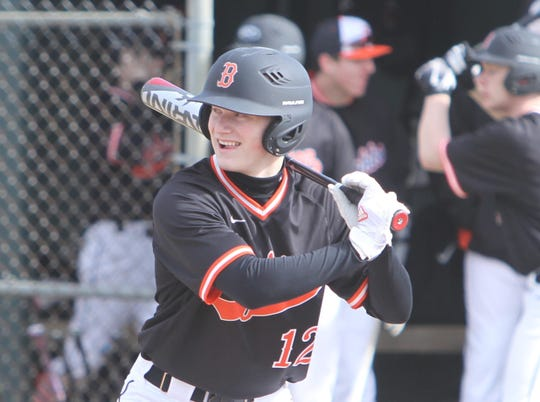 Brighton's Zach Hopman led Livingston County in homers and RBI last season.