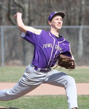 Caden Flanery is the ace of Fowlerville's pitching staff.