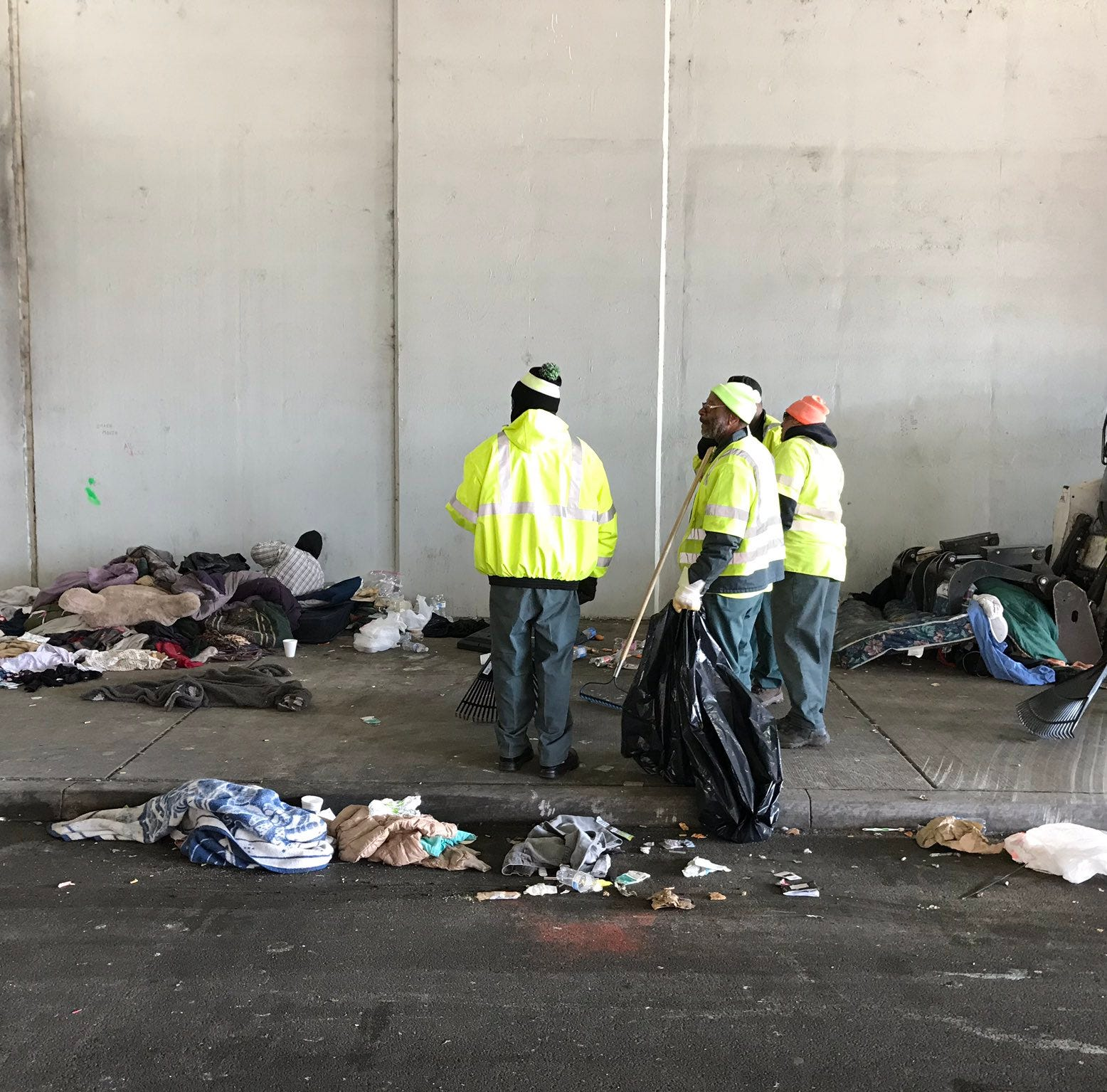 Homeless tent city in downtown Louisville is being cleared out