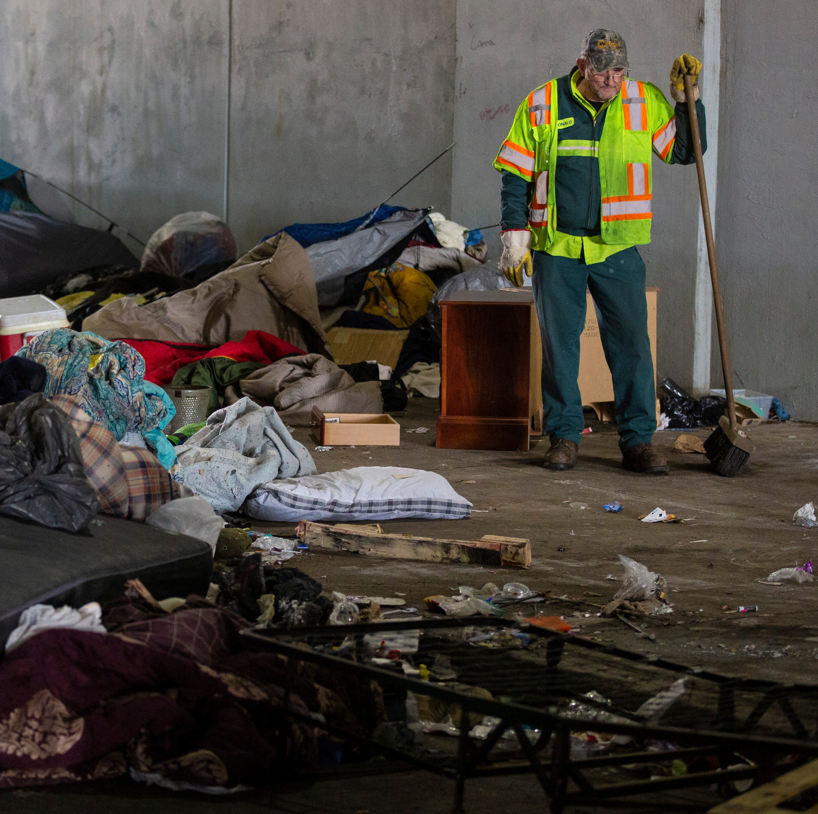 Louisville shoves homeless into the shadows but offers no real solution