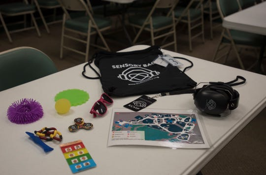 Sensory packs are available to guests at Potter Park Zoo. Each pack contains a set of headphones, sunglasses, fidget spinners and the like, along with a cue card to help kids communicate their feelings.