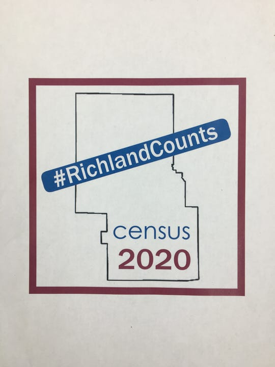 The branding associated with the 2020 U.S. Census for Richland County.